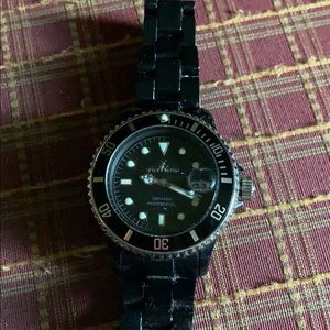 Women's black Toy Watch with black band